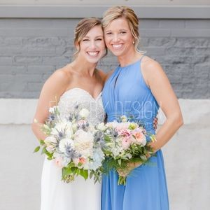 Azazie Blue Jay Bridesmaid dress